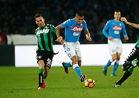 Miguel Allan  during the  italian serie a soccer match,between SSC Napoli Sassuolo       at  the San  Paolo   stadium in Naples  Italy , November 28, 2016