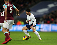 Son Heung-Min of Tottenham during Tottenham Hotspur vs West Ham United, Premier League Football at Wembley Stadium on 4th January 2018