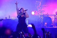 SÃO PAULO, SP, 23.04.2017 - SHOW-SP - A banda americana Evanescence durante show na noite deste domingo, 23, no Espaço das Américas em São Paulo. (Foto: Levi Bianco\Brazil Photo Press)
