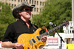 Ted Nugent performs in front of the Alamo, Wednesday, April 15, 2009, in San Antonio. (Darren Abate/pressphotointl.com)