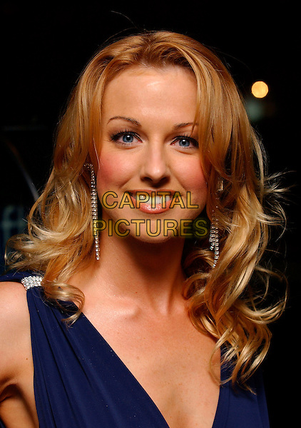 "SARAH MANNERS.""Basic Instinct 2: Risk Addiction"" world film premiere at.vue cinema, Leicester Sqaure, London England, .March 15th, 2006.Ref: FIN.headshot portrait dangling earrings.www.capitalpictures.com.sales@capitalpictures.com.©Steve Finn/Capital Pictures"
