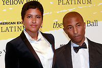 BROOKLYN, NY - SEPTEMBER 10: Helen Lasichanh and Pharrell Williams at The Yellow Ball at The Brooklyn Museum in New York City on September 10, 2018. Credit: Diego Corredor/MediaPunch<br /> CAP/MPI99<br /> &copy;MPI99/Capital Pictures