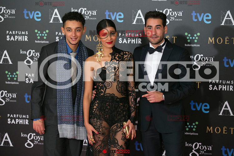 Actors and Personalities attend the 2015 Goya Awards at Auditorium Hotel, Madrid,  Spain. February 07, 2015.(ALTERPHOTOS/)Carlos Dafonte) /NORTEphoto.com