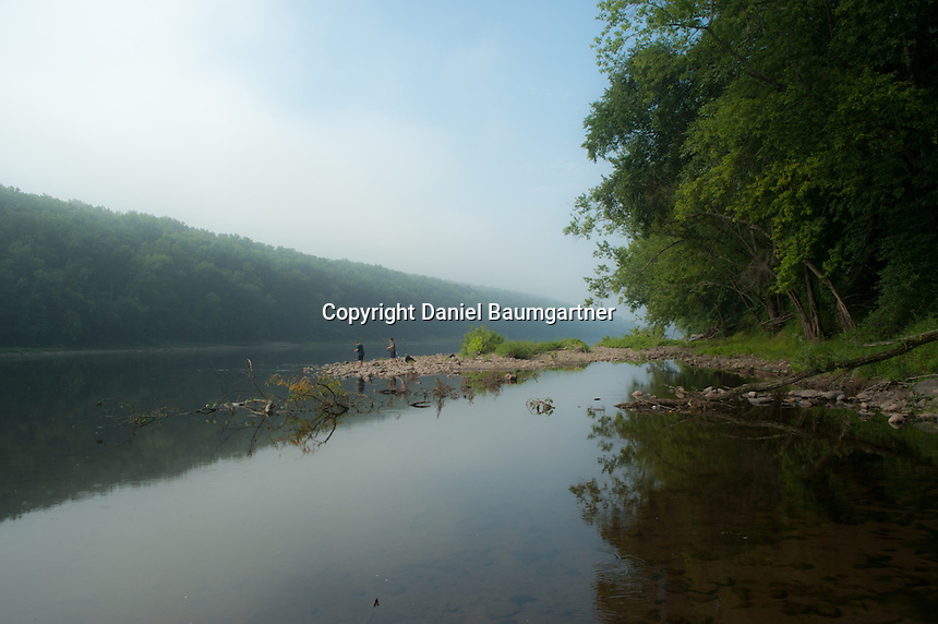 Fishing on the Delaware River by Dingman's Ferry