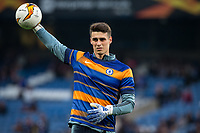 Goalkeeper Kepa ARRIZABALAGA of Chelsea pre match during the UEFA Europa League match between Chelsea and Slavia Prague at Stamford Bridge, London, England on 18 April 2019. Photo by Andy Rowland / PRiME Media Images.<br /> .<br /> .<br /> Editorial use only, license required for commercial use. No use in betting,<br /> games or a single club/league/player publications.'