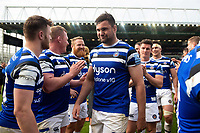 Elliott Stooke of Bath Rugby looks on after the match. Gallagher Premiership match, between Leicester Tigers and Bath Rugby on May 18, 2019 at Welford Road in Leicester, England. Photo by: Patrick Khachfe / Onside Images