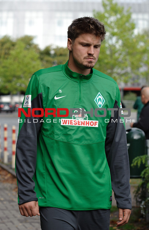 15.09.2013, Trainingsgelaende, Bremen, GER, 1.FBL, Training Werder Bremen, im Bild Sebastian Pr&radic;&part;dl / Proedl (Bremen #15)<br /> <br /> Foto &not;&copy; nph / Frisch