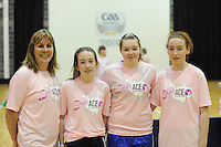 17th November 2013; Kathleen Connolly, Ciara Mullan, Aishling O'Keeffe, Emma Cosgrave. She's Ace - Women in handball event, Breaffy House Sports Arena, Castlebar, Co Mayo. Picture credit: Tommy Grealy/actionshots.ie.