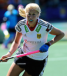 The Hague, Netherlands, June 13: Kristina Hillmann #9 of Germany in action during the field hockey placement match (Women - Place 7th/8th) between Korea and Germany on June 13, 2014 during the World Cup 2014 at Kyocera Stadium in The Hague, Netherlands. Final score 4-2 (2-0)  (Photo by Dirk Markgraf / www.265-images.com) *** Local caption ***