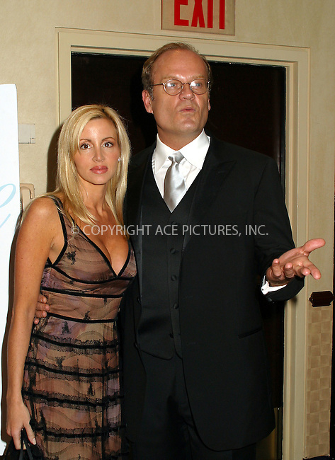 Kelsey Grammer and wife Camille Donatacci attending the Broadcasting & Cable Magazine's Hall of Fame at Marriott Marquis. Kelsey Grammer is one of this year's inductees. New York, November 11, 2002. Please byline: Alecsey Boldeskul/NY Photo Press.   ..*PAY-PER-USE*      ....NY Photo Press:  ..phone (646) 267-6913;   ..e-mail: info@nyphotopress.com