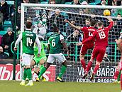 2nd February 2019, Easter Road, Edinburgh, Scotland; Ladbrokes Premiership football, Hibernian versus Aberdeen;Andrew Considine of Aberdeen scores equaliser to make it 1-1