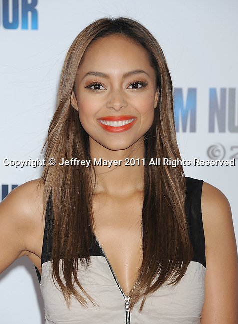 "WESTWOOD, CA - February 09: Amber Stevens arrives at the ""I Am Number Four"" Los Angeles premiere at Mann's Village Theatre on February 9, 2011 in Westwood, California."