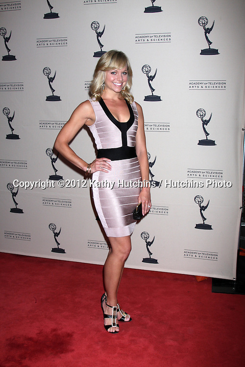 LOS ANGELES - JUN 14:  Tiffany Coyne arrives at the ATAS Daytime Emmy Awards Nominees Reception at SLS Hotel At Beverly Hills on June 14, 2012 in Los Angeles, CA