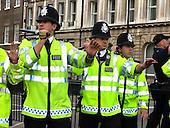 Metropolitan Police Cordon during demonstration in Central London
