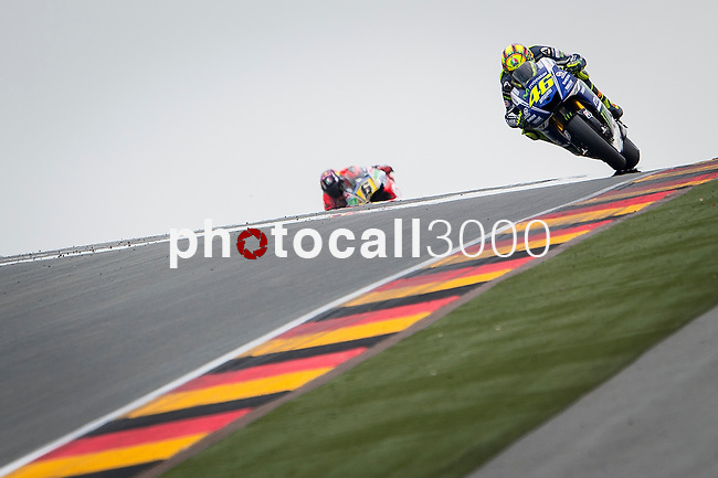 The Rider of motoGP Valentino Rossi during the qualifying practice of Grand Prix Sachsenring in Germany. 12/07/2014. Samuel de Roman / Photocall3000.