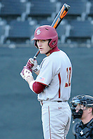 Designated hitter Donovan Casey (30) of the Boston College Eagles in a game against the Wofford College Terriers on Friday, February 13, 2015, at Russell C. King Field in Spartanburg, South Carolina. Wofford won, 8-4. (Tom Priddy/Four Seam Images)