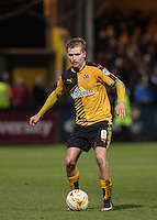 Luke Berry of Cambridge United on the ball during the Sky Bet League 2 match between Cambridge United and Wycombe Wanderers at the R Costings Abbey Stadium, Cambridge, England on 1 March 2016. Photo by Andy Rowland / PRiME Media Images.