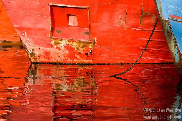 Rusted hull reflections in the Nuuk harbour. Cape Farewell Youth Expedition 08(©Robert vanWaarden ALL RIGHTS RESERVED)