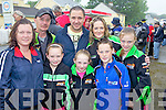 Enjoying the atmosphere at the Athea Annual Motorcycle Roadrace last Sunday was l-r: Colette, Dixie and Sinead Purcell, Dennis Kennedy, Katelyn, Caroline and Dylan Brosnan and Chloe Kennedy from Limerick, Abbeyfeale and Mountcollins.