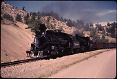 D&amp;RGW #478 on relocated Navajo Lake track.<br /> D&amp;RGW  Navajo Lake (relocated), NM