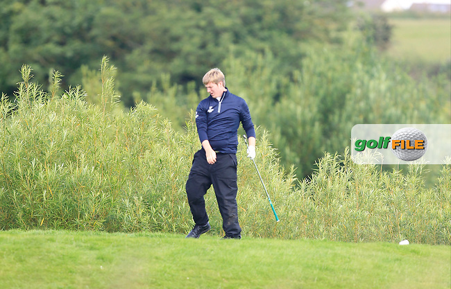Michael Ryan (New Ross) on the 8th tee during Round 3 of the Leinster Boys Amateur Open Championship at Balcarrick Golf Club on Thursday 30th July 2015.<br /> Picture:  Golffile | Thos Caffrey