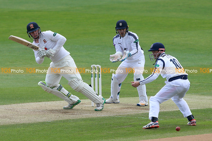 Simon Harmer in batting action for Essex during Essex CCC vs Hampshire CCC, Specsavers County Championship Division 1 Cricket at The Cloudfm County Ground on 20th May 2017