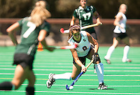 STANFORD, CA - SEPTEMBER 6: Becky Dru handles the ball during competition against Michigan State on September 6, 2010 in Stanford, California.