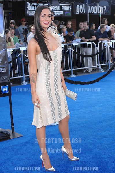 "Megan Fox at the Los Angeles premiere of her new movie ""Transformers""..June 28, 2007  Los Angeles, CA.Picture: Paul Smith / Featureflash"