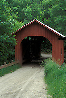 covered bridge, spring, Northfield Falls, VT, Vermont, Slaughter House Covered Bridge in the spring in Northfield Falls.