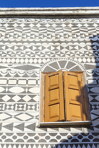 Decorative wall of a house in the village of Pyrgi, Chios, Greece<br /> CAP/MEL<br /> &copy;MEL/Capital Pictures /MediaPunch ***NORTH AND SOUTH AMERICA ONLY***