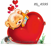 Interlitho-Fabrizio, Comics, VALENTINE, VALENTIN, paintings+++++,1 bear, heart,KL4595,#v#, EVERYDAY ,sticker,stickers