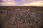 Aerial of excavation site; Oxus Civilization; Turkmenistan; Gonor Depe site; Victor Sarianidi; Archaeology; BMAC complex