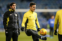 Blackburn Rovers' Darragh Lenihan warming up before the match<br /> <br /> Photographer Andrew Kearns/CameraSport<br /> <br /> The EFL Sky Bet League One - Portsmouth v Blackburn Rovers - Tuesday 13th February 2018 - Fratton Park - Portsmouth<br /> <br /> World Copyright &copy; 2018 CameraSport. All rights reserved. 43 Linden Ave. Countesthorpe. Leicester. England. LE8 5PG - Tel: +44 (0) 116 277 4147 - admin@camerasport.com - www.camerasport.com