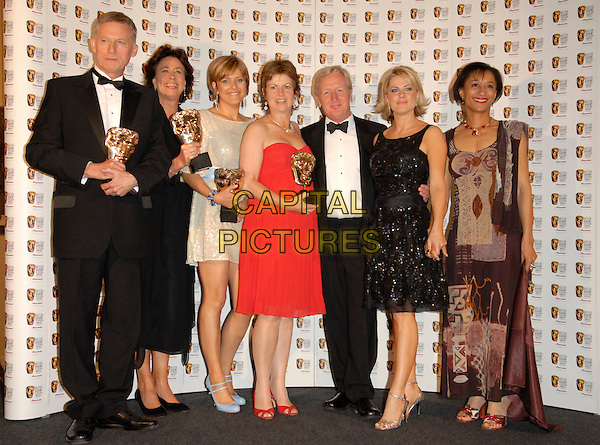 WINNERS - cast of Casulty.At The British Academy Television Awards (BAFTA) Sponsored by Pioneer, held at the London Palladium, London, England, May 20th 2007..full length press room awards trophies.CAP/FIN.©Steve Finn/Capital Pictures.