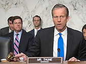 United States Senator John Thune (Republican of South Dakota), Chairman, US Senate Committee on Commerce, Science, and Transportation, calls the hearing on the nominations of four individuals to be commissioners of the Federal Trade Commission (FTC) on Capitol Hill in Washington, DC on Wednesday, February 14, 2018.<br /> Credit: Ron Sachs / CNP