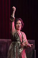 """(Freelance photo by Martha Benedict)<br /> <br /> Photo from open dress rehearsal of Pacific Opera Project's production of The Rake's Progress by Igor Stravinsky on September 15, 2016 in Thorne Hall.<br /> <br /> On September 17 and 18, the Music Department will sponsor Pacific Opera Project (""""POP"""") for a full production of one of the most-performed English-language operas ever, The Rake's Progress,  which was written by the Russian composer Igor Stravinsky here in Los Angeles in the late 1940s. The opera was premiered in Venice in 1951. The Rake's Progress is the retelling of a common story throughout literature, the Faustian tale of a young man who is tricked by the devil into giving up all the good things he has in life to pursue his wildest dreams. Written by W. H. Auden and Chester Kallman after a series of etchings entitled A Rake's Progress (1735) by William Hogarth, the story is originally set in 18th Century England. <br /> <br /> POP's production engages Oxy's Core Curriculum theme for the 2016-2017 academic year, """"Re-envisioning Metropolis:  Los Angeles and the Urban Arts."""" As Stravinsky was writing this opera in North Hollywood and at a time that Los Angeles was ripping up its red cars and expanding through the freeway, the meditation on the perils of urban """"progress"""" that is The Rake's Progress resonate to this day. In addition to the remarkable cast listed below, The Occidental College Glee Club will serve as the chorus for the production, while production students in Oxy's Theater Department will assist behind the scenes.<br /> <br /> (Freelance photo by Martha Benedict)"""