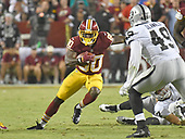 Washington Redskins wide receiver Jamison Crowder (80) returns a punt in the third quarter against the Oakland Raiders at FedEx Field in Landover, Maryland on Sunday, September 24, 2017.  The Redskins won the game 27-10.<br /> Credit: Ron Sachs / CNP