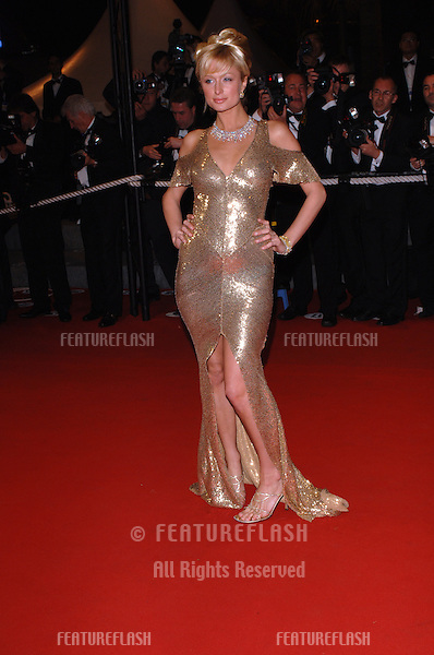 Actress PARIS HILTON at the official screening of Kiss Kiss, Bang Bang at the 58th Annual Film Festival de Cannes..May 14, 2005 Cannes, France..© 2005 Paul Smith / Featureflash