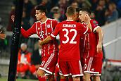 September 12th 2017, Munich, Germany, Champions League football, Bayern Munich versus Anderlecht;  Robert Lewandowski of Bayern Munchen celebrates his penalty goal in the 12th minute