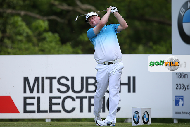 Richard Finch (ENG) in action during Round Three of the 2015 BMW PGA Championship over the West Course at Wentworth, Virginia Water, London. 23/05/2015. Picture David Lloyd | www.golffile.ie.