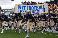 Pitt takes the field. The Utah Utes defeated the Pitt Panthers 26-14 at Heinz Field, Pittsburgh, Pennsylvania on October 15, 2011.