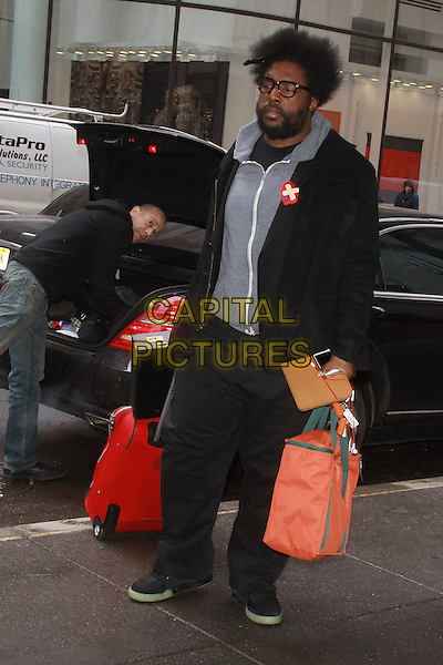 NEW YORK, NY - FEBRUARY 26:Questlove seen at NBC Studios in New York City on February 26, 2014. <br /> CAP/MPI/RW<br /> &copy;RW/ MediaPunch/Capital Pictures