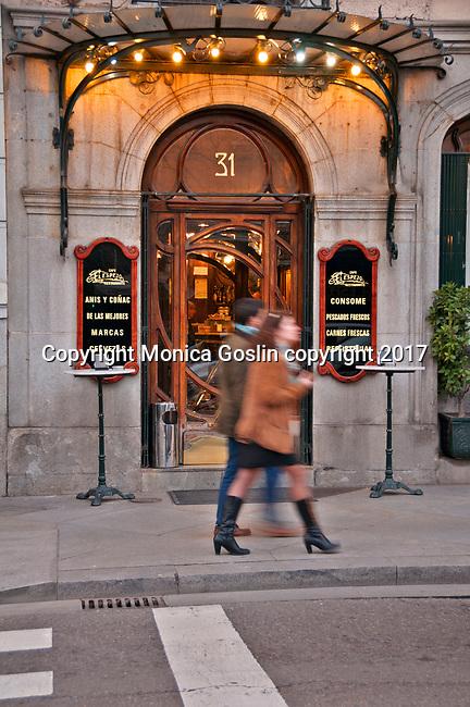 El Espejo Cafe on the Castellana in Madrid, Spain