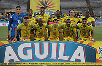 NEIVA- COLOMBIA, 28-04-2019:Formació del Atlético Huila ante el Once Caldas.Acción de juego entre los equipos   Atlético Huila y el Once Caldas  durante partido por la fecha 18 de la Liga Águila I 2019 jugado en el estadio Guillermo Plazas Alcid de la ciudad de Neiva. /Team of Atletico Huila against of Once Caldas. Action game between teams  Atletico Huila and Once Caldas during the match for the date 18 of the Liga Aguila I 2019 played at the Guillermo Plazas Alcid Stadium in Neiva  city. Photo: VizzorImage / Sergio Reyes / Contribuidor.