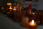 Bassam Hmaid, a 36 Palestinian man, uses wax to form candles, at his home, in Gaza city, April 20, 2019. In the developed world today, candles are used mainly for their aesthetic value and scent, particularly to set a soft, warm, or romantic ambiance and for religious or ritual purposes. Photo by Mahmoud Ajjour