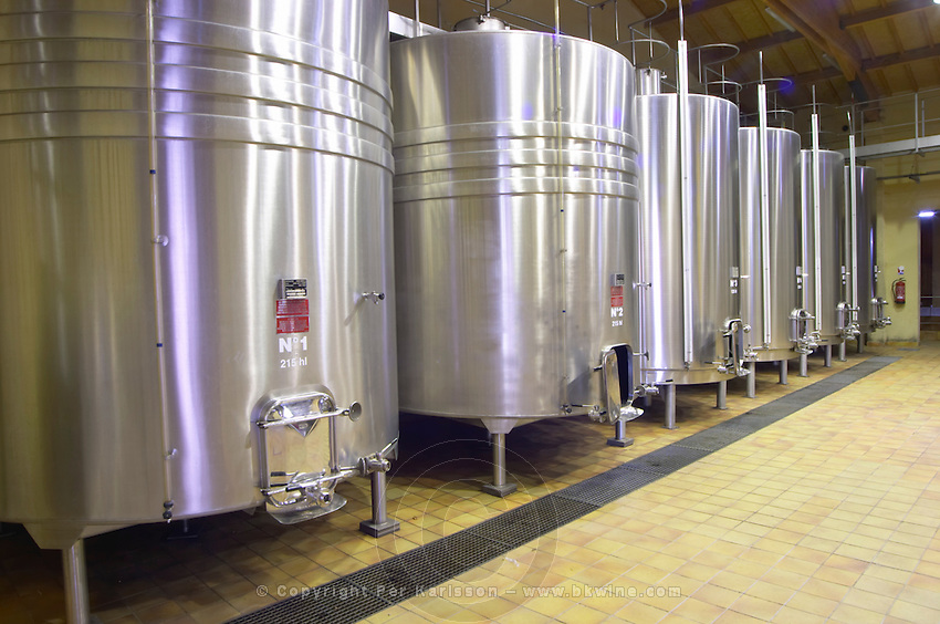 Fermentation tanks. Chateau Yon Figeac, Saint Emilion, Bordeaux France