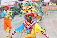 PASTO -COLOMBIA, 02-01-2016. El desfile del carnavalito dió inicio al Carnaval de Negros y Blancos 2016. Allí los niños os niños realizan su propio carnaval con carrozas a escala infantil, concebidas y elaboradas por ellos mismos, al igual que pequeños colectivos coreográficos, murguitas, comparsitas y disfraces individuales. / With Carnavalito parade began the Blacks and Whites' Carnival 2016. There the children make their own carnival with floats child scale, conceived and developed by themselves, like small choreographic collectives, murguitas, comparsitas and individual costumes. Photo: VizzorImage / Leonardo Castro / Cont