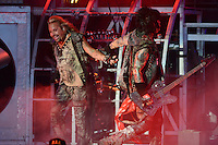 ALBUQUERQUE NM - AUGUST 7:  Vince Neil and Nikki Sixx of Motley Crue perform at the Hard Rock Casino Albuquerque on August 7, 2012 in Albuquerque, New Mexico. Credit: MediaPunch Inc.
