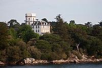 Europe/France/Bretagne/56/Morbihan/ Golfe du Morbihan: L'Ile Berder propriété d'Yves Rocher et son manoir du XIX éme siécle