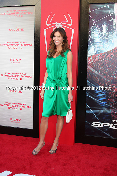 "LOS ANGELES - JUN 28:  Tricia Helfer arrives at the ""The Amazing Spider-Man"" Premiere at Village Theater on June 28, 2012 in Westwood, CA"